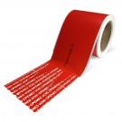 """OneSeal - Tamper Evident Cargo Door Label, 4""""x13"""", Red (100/roll) - TCTEL-4X13R"""